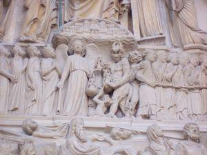 Notre Dame - portál Posledního soudu